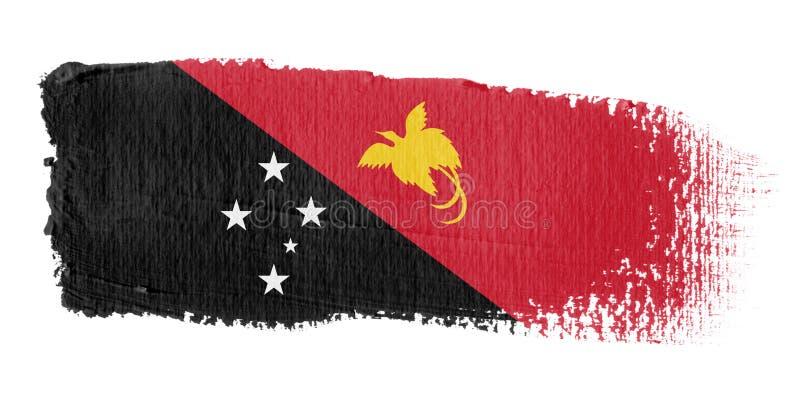 гинея новая Папуа флага brushstroke иллюстрация штока
