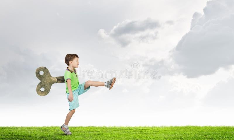 Гиперактивный счастливый ребенок стоковое фото rf