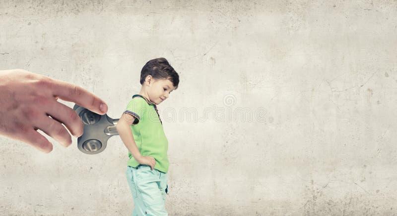 Гиперактивный счастливый ребенок стоковая фотография rf
