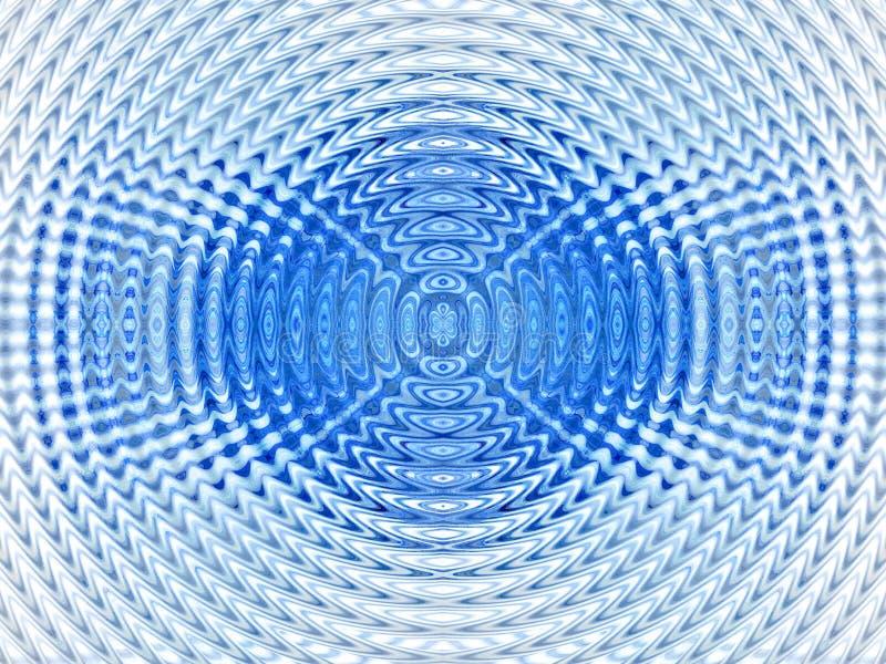 гипнотик абстрактной предпосылки голубой иллюстрация вектора