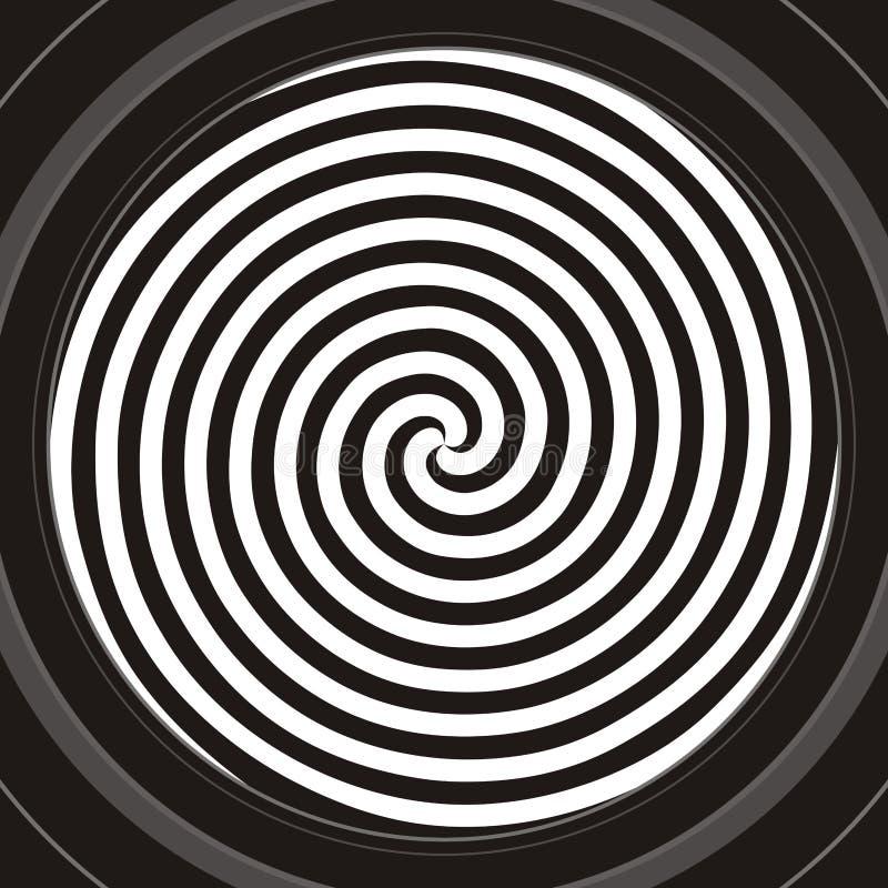 гипнотическая спираль иллюстрация штока