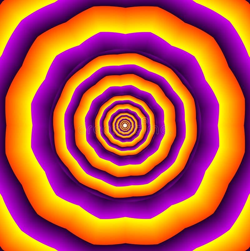 Гипнотические polygones иллюстрация вектора