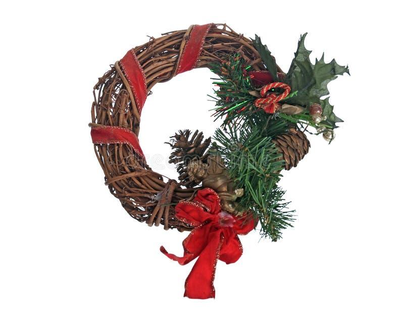 Download гирлянда двери рождества стоковое фото. изображение насчитывающей венок - 18388968