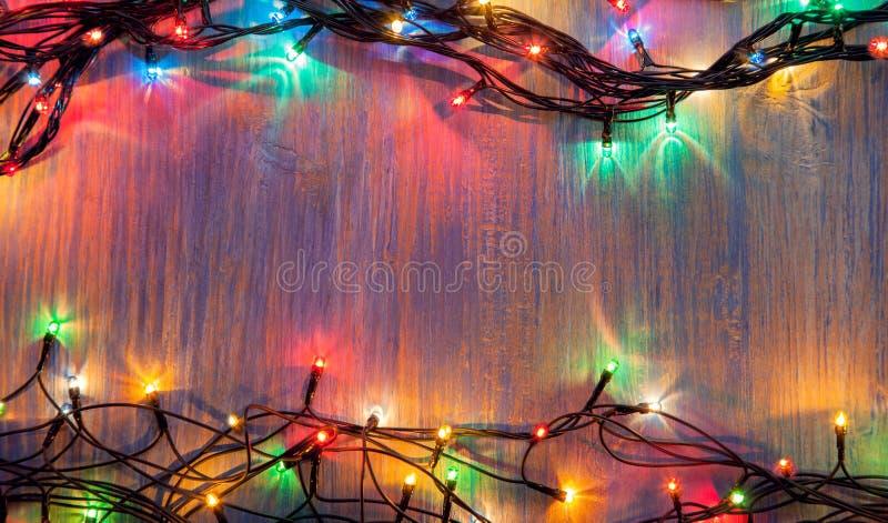 Гирлянда торжества рождества электрических лампочек стоковое изображение rf