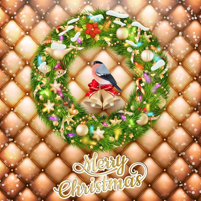 Гирлянда рождества с безделушками 10 eps бесплатная иллюстрация