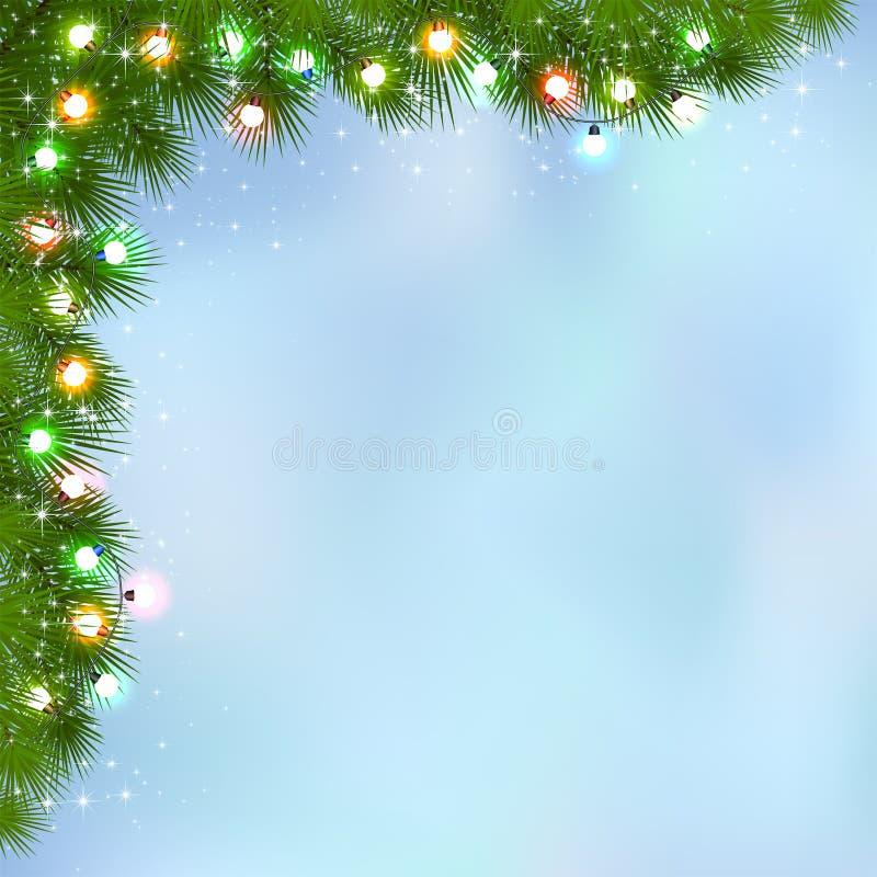 Гирлянда рождества бесплатная иллюстрация