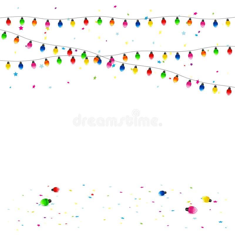 Гирлянда рождества иллюстрация штока