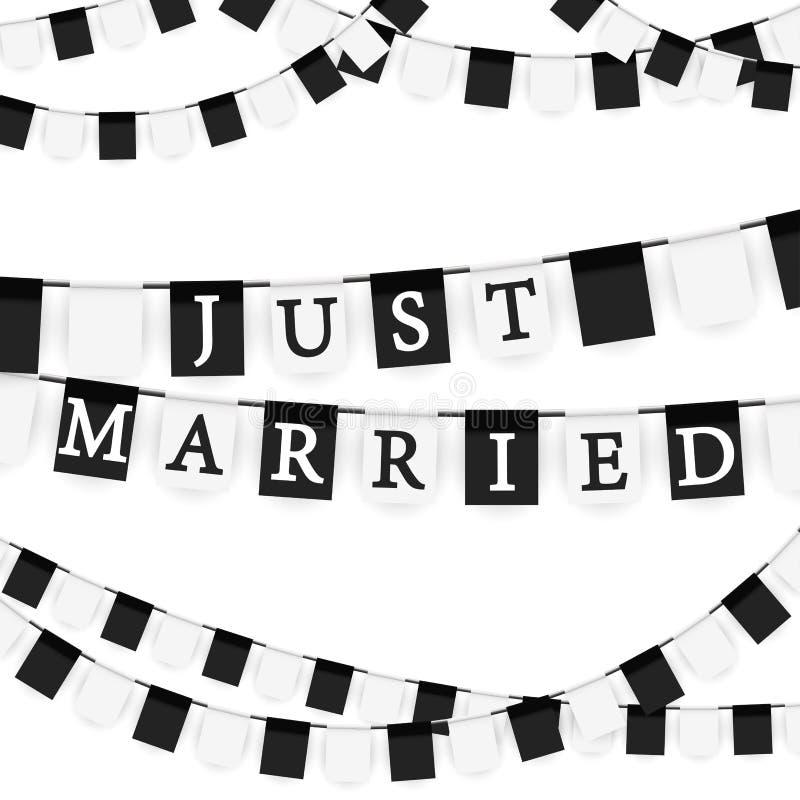 гирлянды для замужества иллюстрация штока