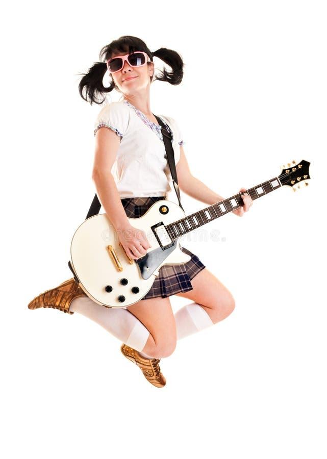 гитара девушки стоковое изображение rf
