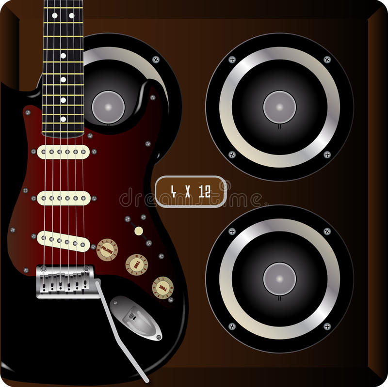 Гитара и кабина бесплатная иллюстрация