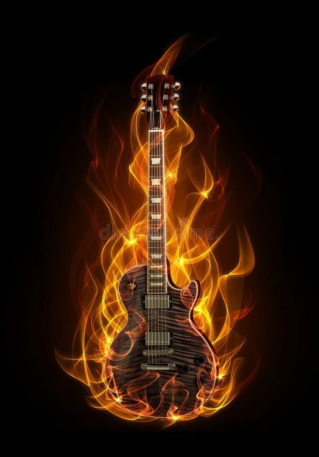 гитара пожара иллюстрация вектора