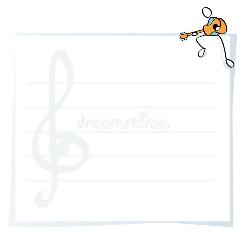 гитара рамок смешная иллюстрация вектора