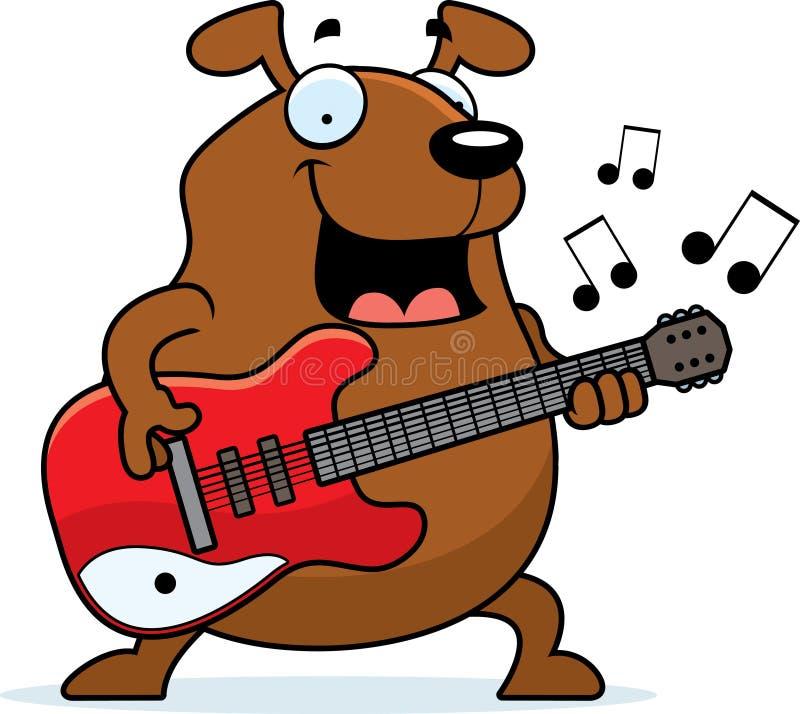 Гитара собаки шаржа бесплатная иллюстрация