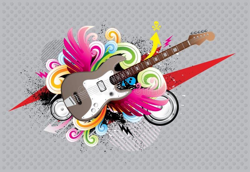 гитара урбанская иллюстрация вектора