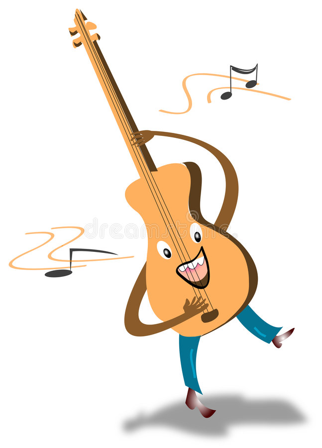 гитара шаржа бесплатная иллюстрация