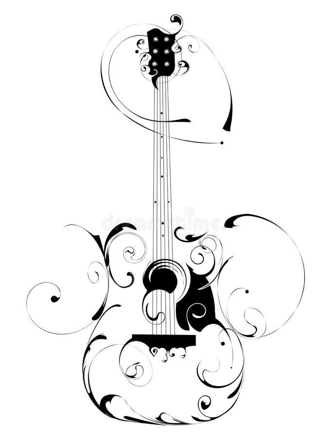 гитара иллюстрация штока
