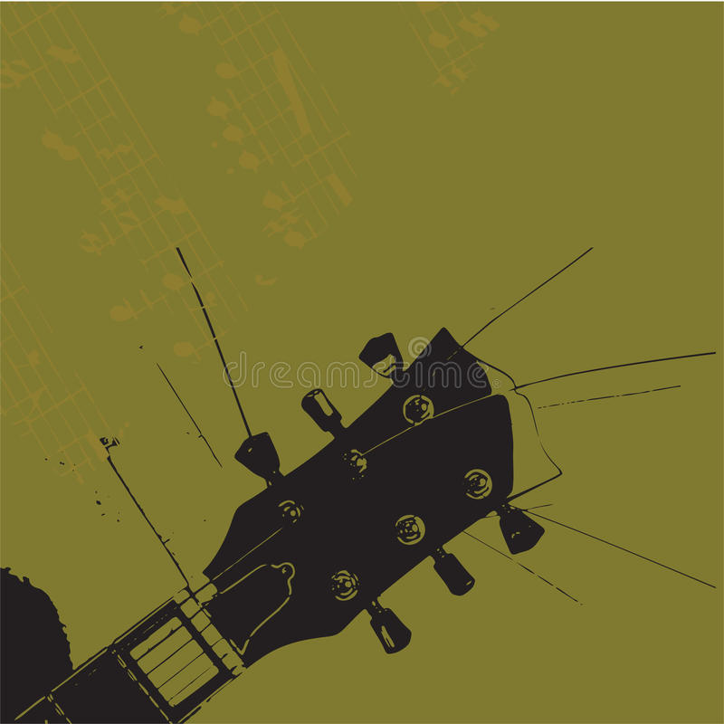гитара grunge старая иллюстрация вектора