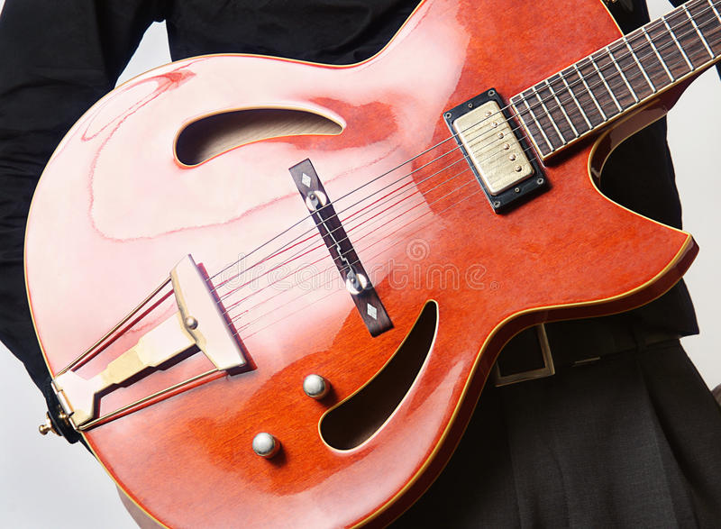 гитарист гитары стоковое фото