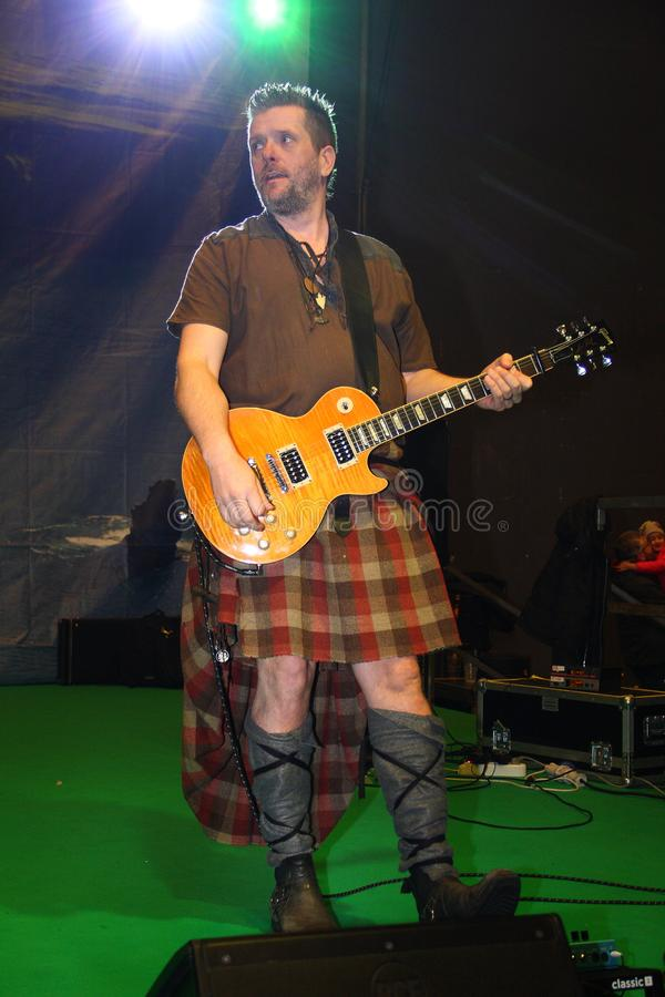 Гитарист группы патруля Saor стоковые фотографии rf