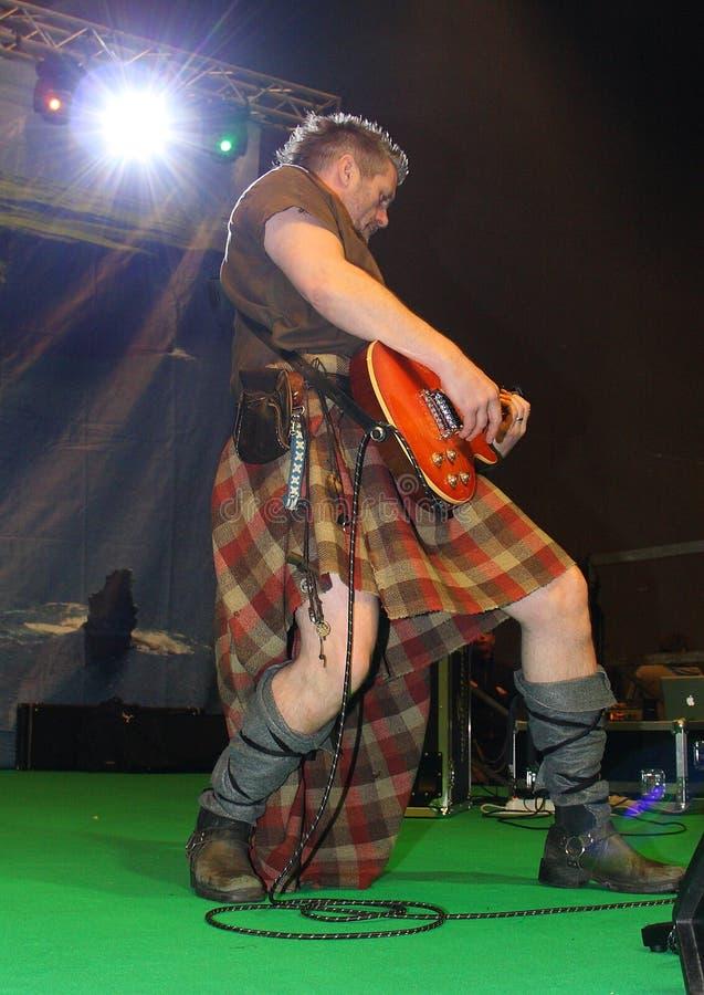 Гитарист группы патруля Saor стоковое изображение rf