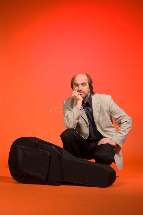 гитарист случая стоковое изображение