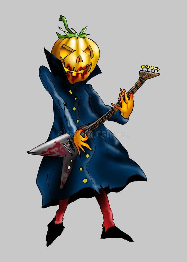 Гитарист хеллоуина иллюстрации иллюстрация вектора