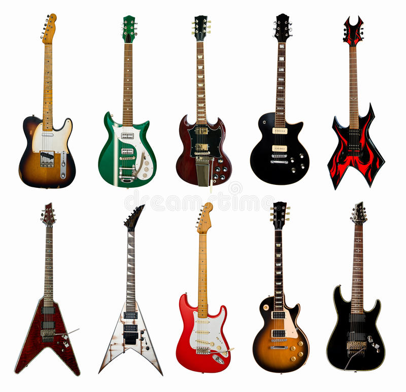 гитары собрания электрические стоковая фотография