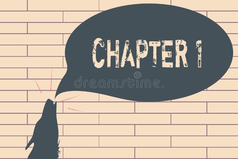 Глава 1 сочинительства текста почерка Воодушевленность возможности искусства рассказа проекта книги od начала смысла концепции но иллюстрация вектора