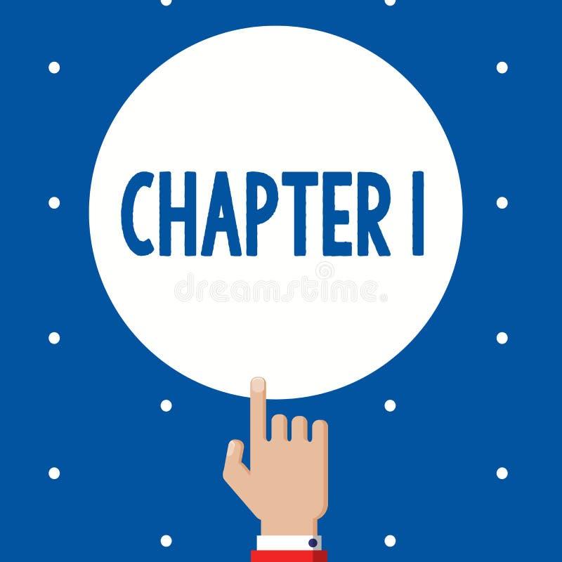 Глава 1 текста почерка Воодушевленность возможности искусства рассказа проекта книги od начала смысла концепции новая бесплатная иллюстрация
