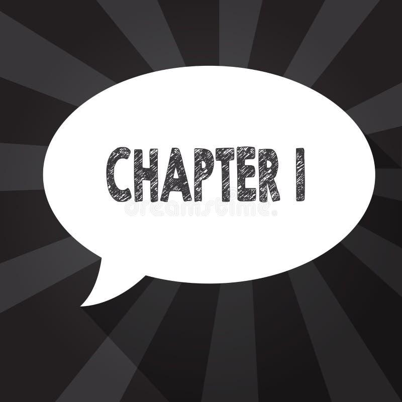 Глава 1 текста сочинительства слова Концепция дела для воодушевленности возможности искусства рассказа проекта книги od начала но бесплатная иллюстрация