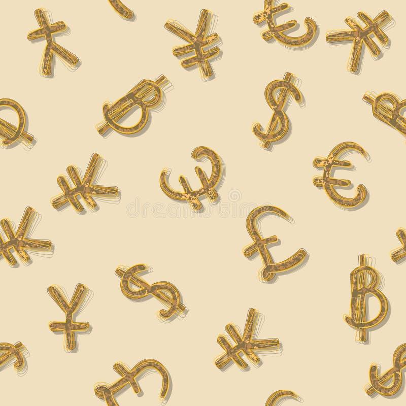 Главная валюта мира иллюстрация штока