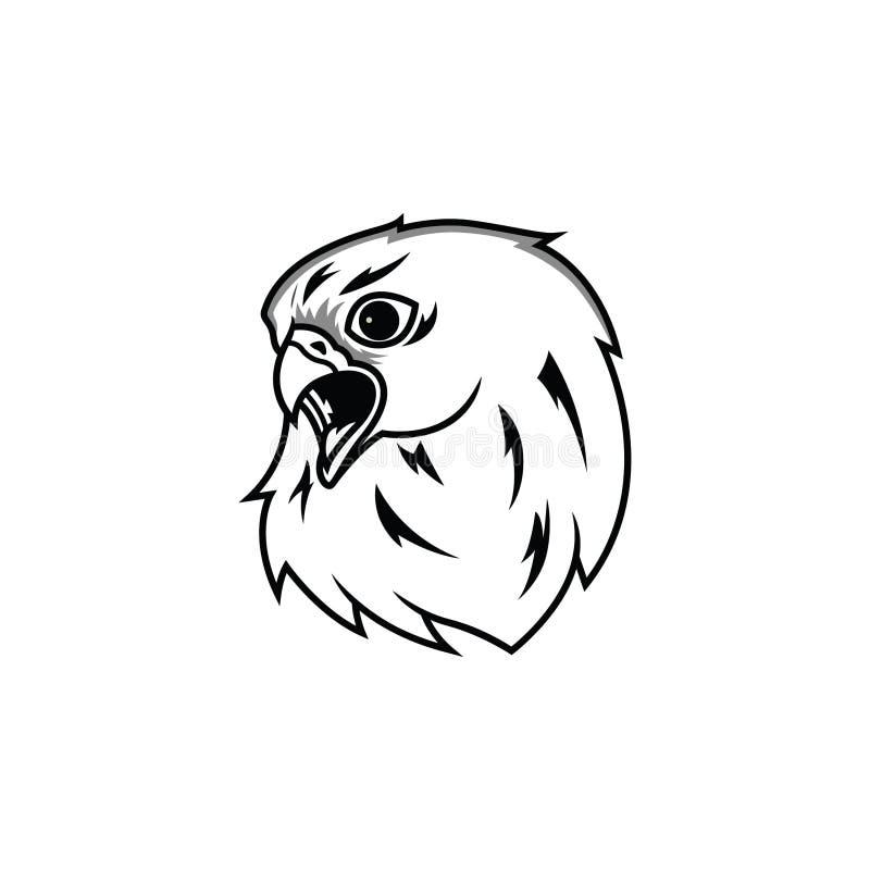 Главная линия значок орла логотипа искусства бесплатная иллюстрация
