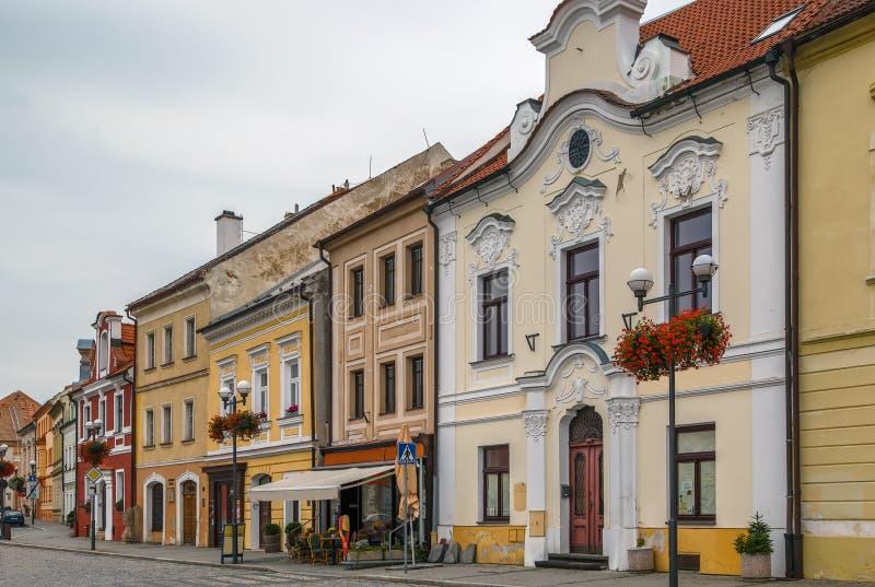 Главная площадь в Kadan, чехии стоковые фотографии rf