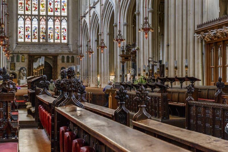Главная ступица аббатства ванны, Великобритании стоковое изображение