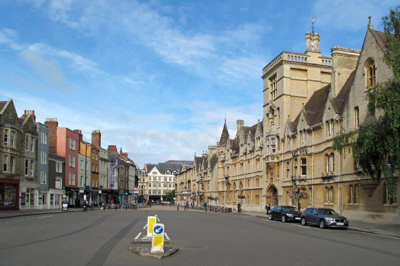Главная улица в Оксфорд стоковые фото