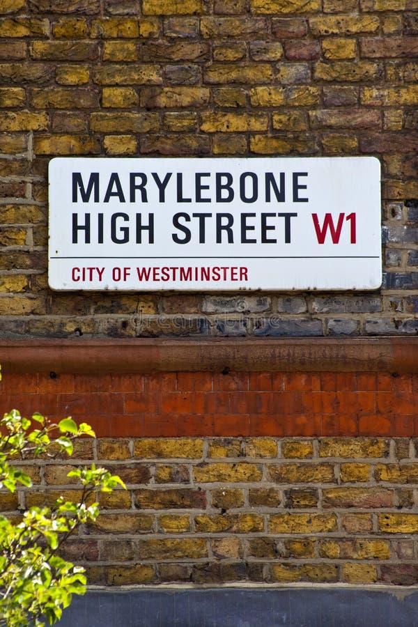 Главная улица Marylebone в Лондон стоковое фото