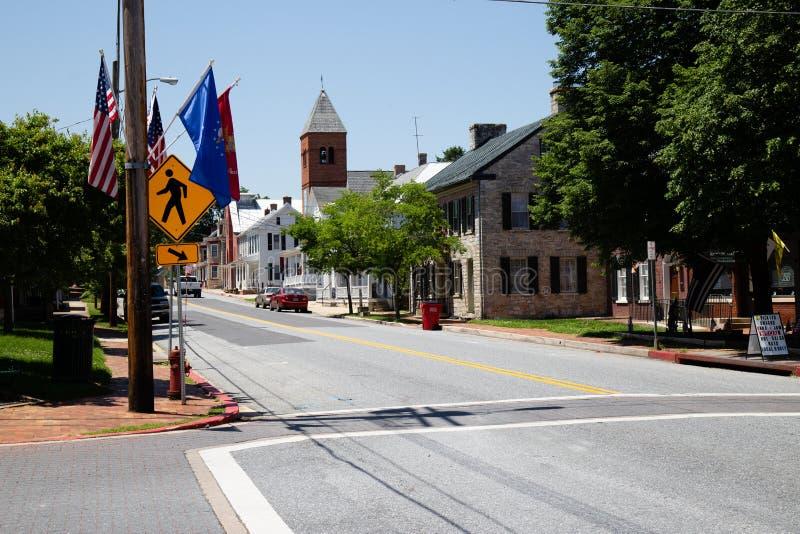 Главная улица MD Sharpsburg стоковое изображение