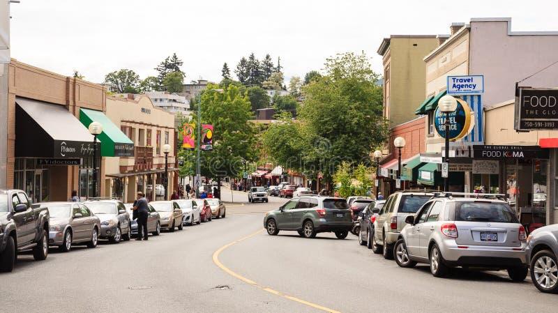 Главная улица Nanaimo стоковая фотография