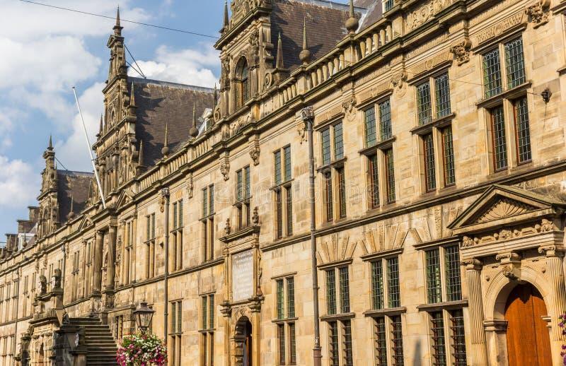 Главное здание университета Лейдена стоковое фото