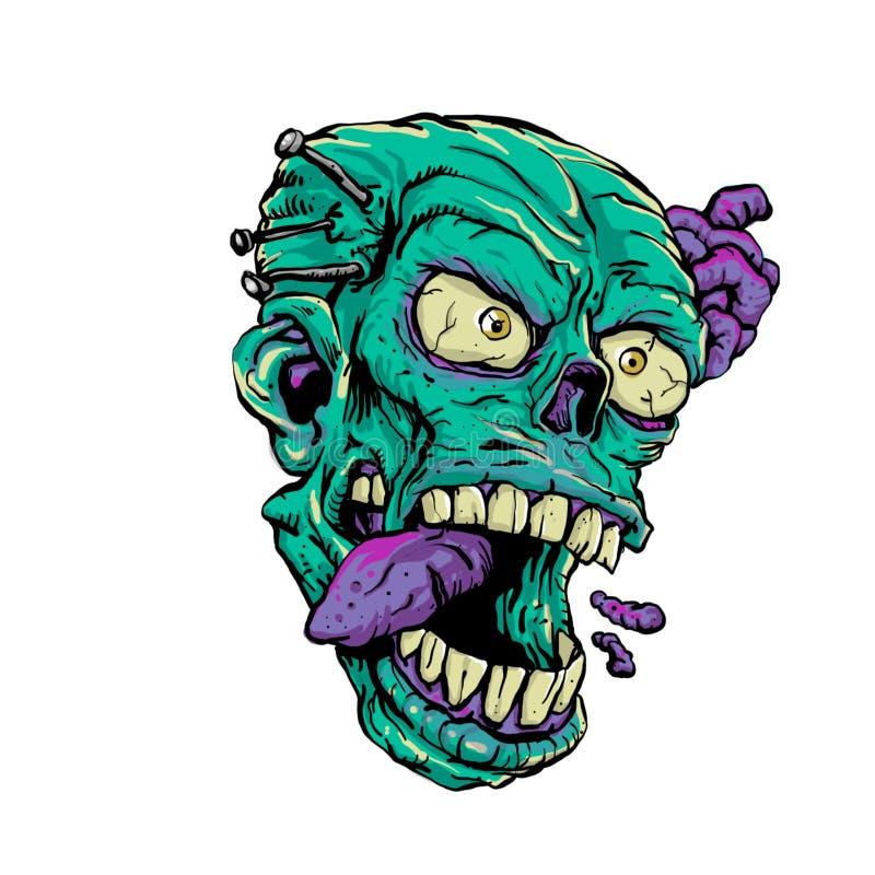 Главный апокалипсис зомби иллюстрация вектора