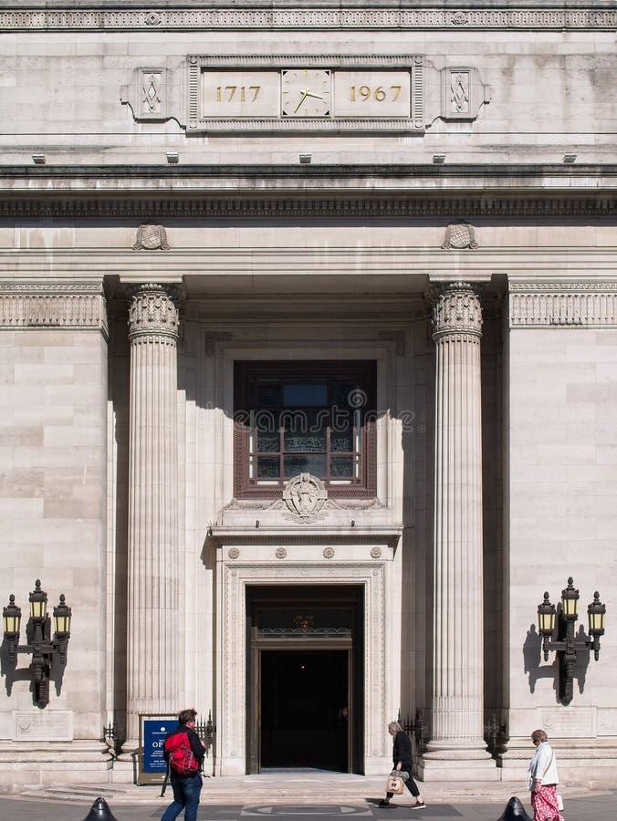 Главный вход Freemasons Hall стоковые изображения rf