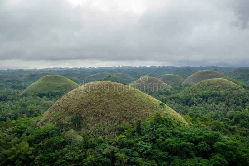 Главный ориентир острова Bohol на Филиппинах - холмах шоколада стоковые изображения rf