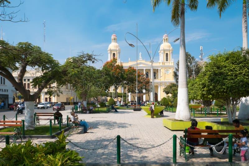 Главный парк Chiclayo Перу стоковое изображение