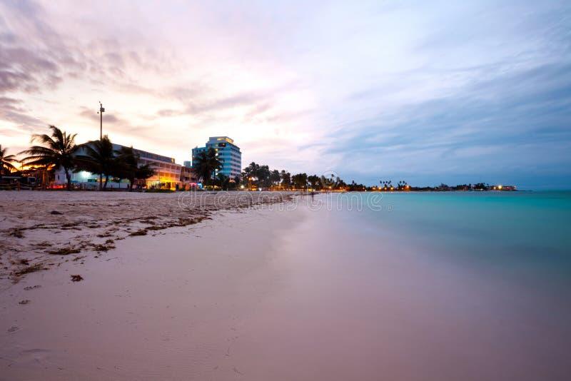 Главный пляж на острове San Andres в Колумбии стоковая фотография