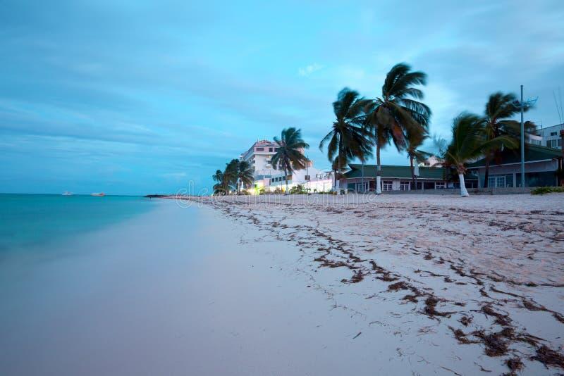 Главный пляж на острове San Andres в Колумбии стоковое изображение rf