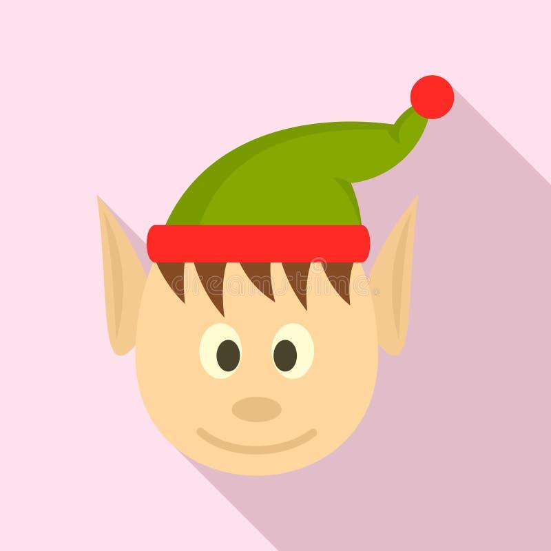 Главный elfin значок, плоский стиль иллюстрация штока