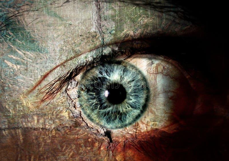 глаза имели если стены иллюстрация штока