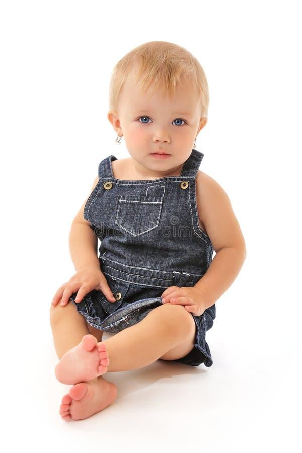 глаза сини младенца милые стоковые изображения