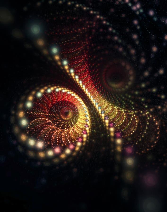 Глаза сыча большие круглые вытаращятся из темноты иллюстрация вектора
