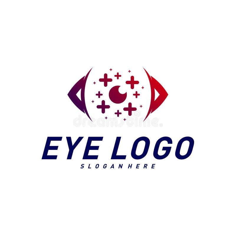 Глаза с вектором идеи проекта логотипа здоровья значков Шаблон логотипа глаза здоровья Символ значка бесплатная иллюстрация